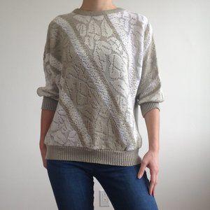 Vintage Sweaters - *Vintage* Le-La - Half Sleeve Knit Sweater